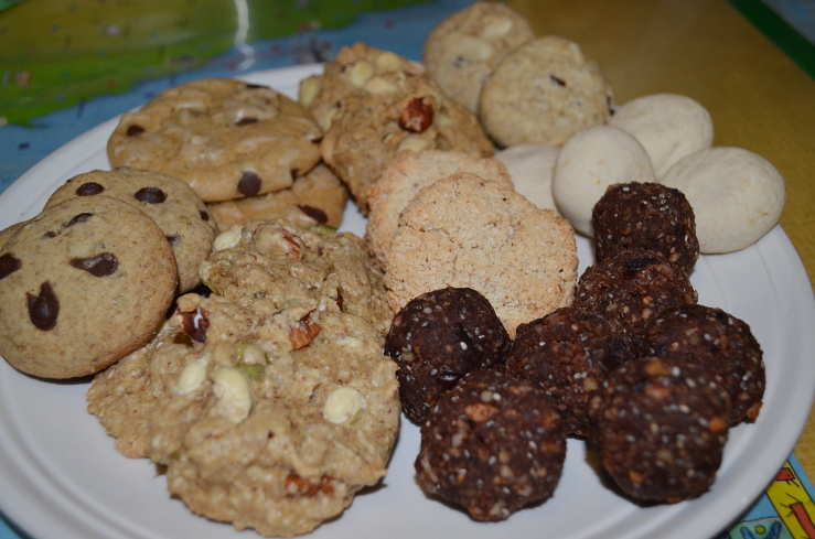 assorted baked vegan treats