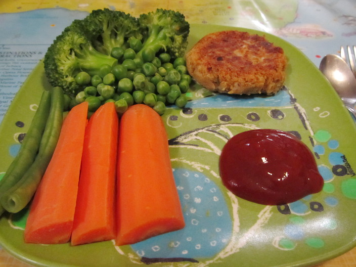 chickpea patties with veg