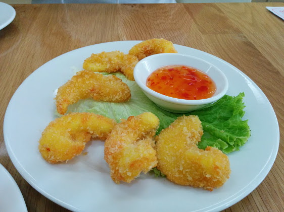 Loving Hut crumbed prawns