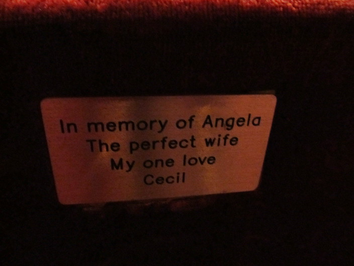 gorgeous seat plaque