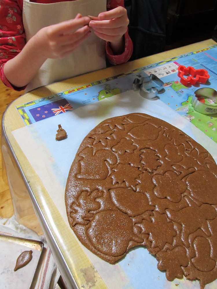 making gingerbread