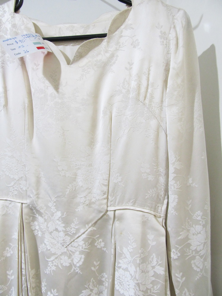 1940s wedding dress Red Cross op shop Moonee Ponds July2014